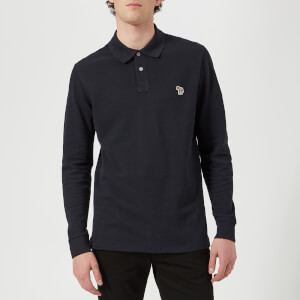 PS Paul Smith Men's Regular Fit Long Sleeve Polo Shirt - Dark Navy
