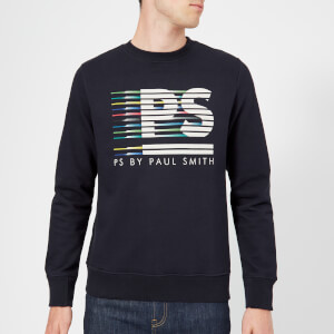 PS Paul Smith Men's Regular Fit Stripe Logo Sweatshirt - Dark Navy