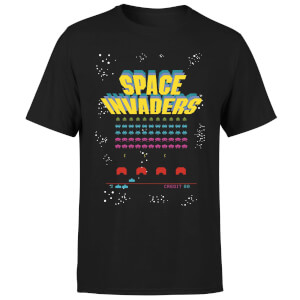 Space Invaders Game Screen Men's T-Shirt - Black