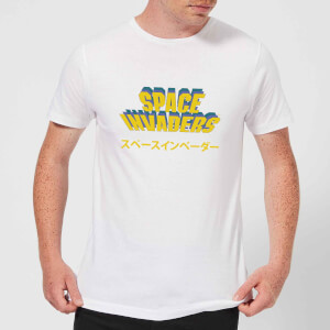 T-Shirt Homme Space Invaders Japonais - Blanc