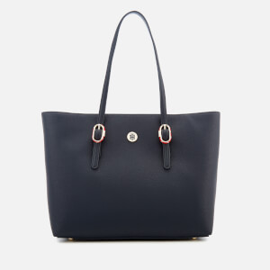 Tommy Hilfiger Women's Buckle Tote Bag - Navy
