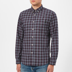Edwin Men's Light Herringbone Standard Long Sleeve Shirt - Dark Slate