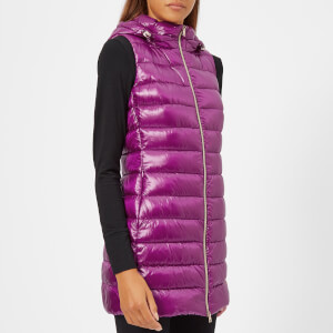 Herno Women's Woven Long Gilet - Violet