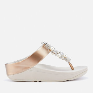 FitFlop Women's Deco Toe Post Sandals - Silver