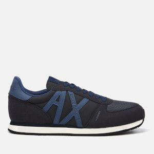 Armani Exchange Men's Nylon Running Style Trainers - Navy