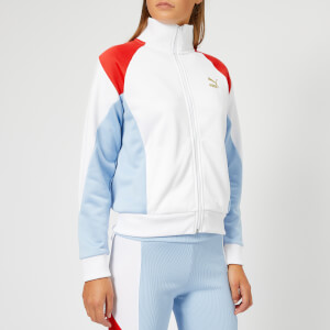 Puma Women's Retro Track Jacket - White/Blue/Red