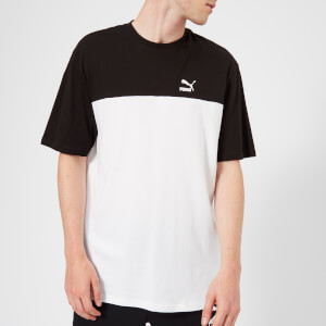 Puma Men's Retro Short Sleeve T-Shirt - Cotton Black