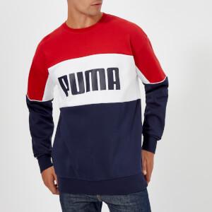 Puma Men's Retro Crew Neck Sweatshirt - Peacoat