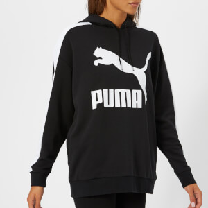 Puma Women's Classic Logo T7 Hoodie - Cotton Black