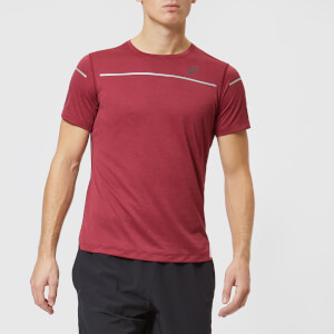 Asics Men's Lite-Show Short Sleeve Top - Cordovan