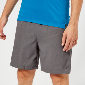 Asics Men's 2-N-1 7 Inch Shorts - Dark Grey Heather