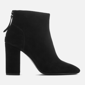 Ash Women's Joy Suede Heeled Ankle Boots - Black
