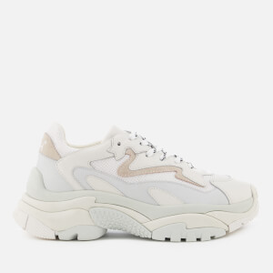 Ash Women's Addict Chunky Running Style Trainers - Off White/White