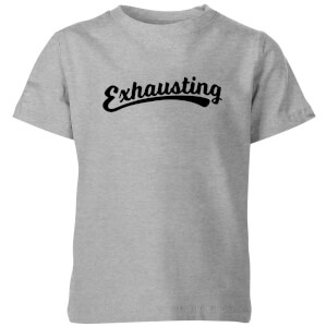 Exhausting Kids' T-Shirt - Grey