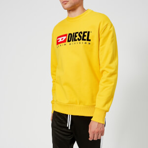 Diesel Men's Crew Division Sweatshirt - Yellow