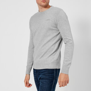 Diesel Men's Over Crew Neck Knitted Jumper - Grey