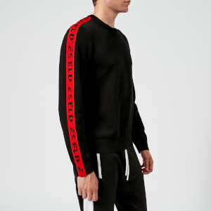 Diesel Men's Tracky Tape Detail Sweatshirt - Black