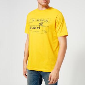 Diesel Men's Just Printed T-Shirt - Yellow