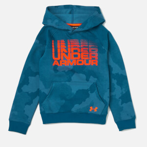 Under Armour Boys' Rival Wordmark Hoody - Techno Teal