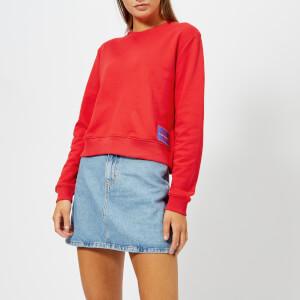 Calvin Klein Jeans Women's Monogram Logo Badge Sweatshirt - Tomato