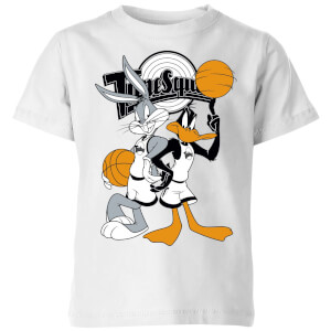 T-Shirt Enfant Bugs et Daffy Time Squad Space Jam - Blanc