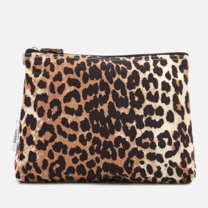 Ganni Women's Fairmont Make Up Bag - Leopard