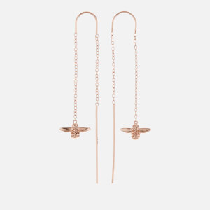 Olivia Burton Women's Bee Chain Drop Earrings - Rose Gold