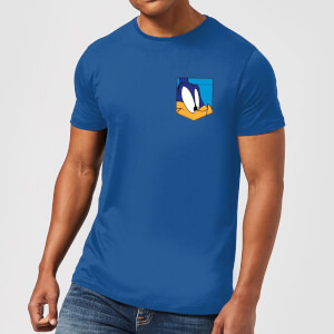 Looney Tunes Roadrunner Face Faux Pocket Men's T-Shirt - Royal Blue