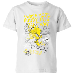 Looney Tunes Tweety Pie More Puddy Tats Kids' T-Shirt - White