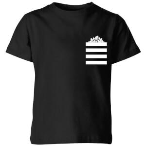 T-Shirt Enfant Taz Poche à Rayures Looney Tunes - Noir