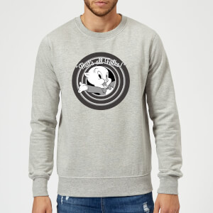 Looney Tunes That's All Folks Porky Pig Sweatshirt - Grey