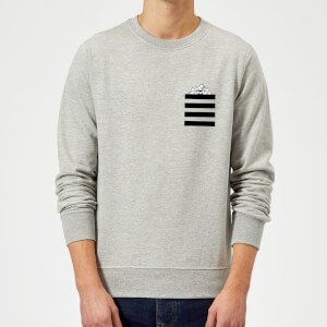 Looney Tunes Taz Stripes Pocket Print Sweatshirt - Grey