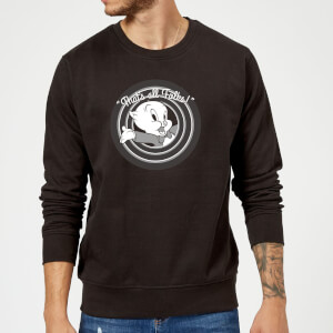 Looney Tunes That's All Folks Porky Pig Sweatshirt - Black