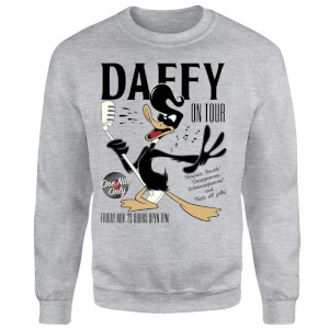 Sweat Homme Concert Daffy Looney Tunes - Gris