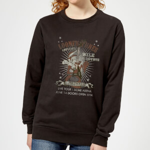 Looney Tunes Wile E Coyote Guitar Arena Tour Women's Sweatshirt - Black