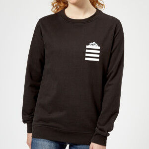Looney Tunes Taz Stripes Pocket Print Women's Sweatshirt - Black