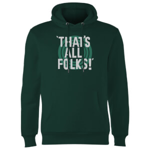 Sweat à Capuche Homme That's All Folks ! Looney Tunes - Vert Foncé