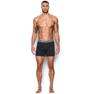 Under Armour Charged 3 Pack Cotton 6 Inch Boxerjock Briefs - Black