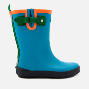 Hunter Kids' Davison Wellies - Twilight/Hyper Green/Navy
