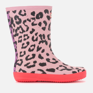 Hunter Kids' First Classic Leopard Print Wellies - Mist Pink/Hyper Pink/Thistle