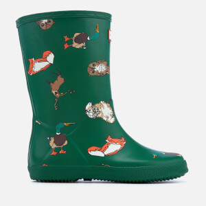 Hunter Kids' First Classic Highland Print Wellies - Highland Animal Print