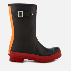 Hunter Men's Original Short Colourblock Wellies - Military Red
