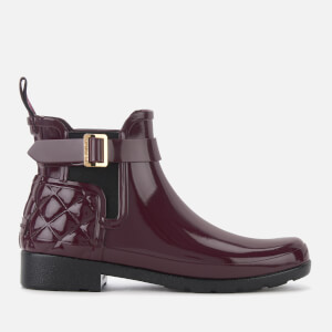 Hunter Women's Refined Gloss Quilted Chelsea Boots - Oxblood