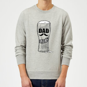Awesome Dad Beer Glass Sweatshirt - Grey