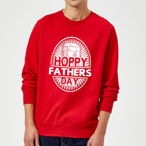 Hoppy Fathers Day Sweatshirt - Red