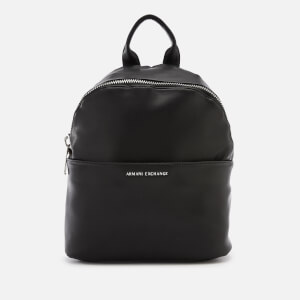 Armani Exchange Women's Eco Logo Backpack - Black