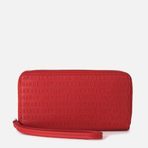 Armani Exchange Women's Zip Around Wristlet Purse - Red