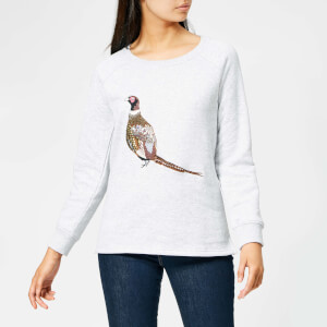 Joules Women's Hayfield Pheasant Crew Neck Sweatshirt - Grey