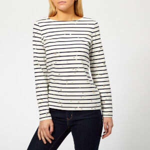 Joules Women's Harbour Printed Jersey Top - Gold Star