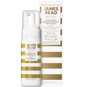 Espuma Bronzeadora de Rosto e Corpo Foolproof da James Read - Dark 100 ml